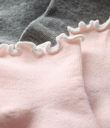Lote de 2 pares de calcetines hasta la rodilla para bebé niña