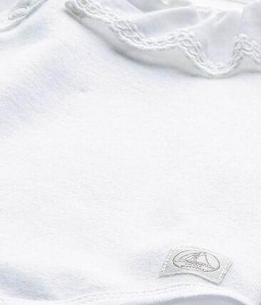 Body de nacimiento para bebé niña blanco Ecume