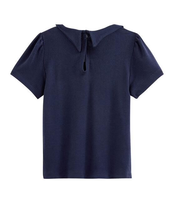 Camiseta de niña azul Smoking