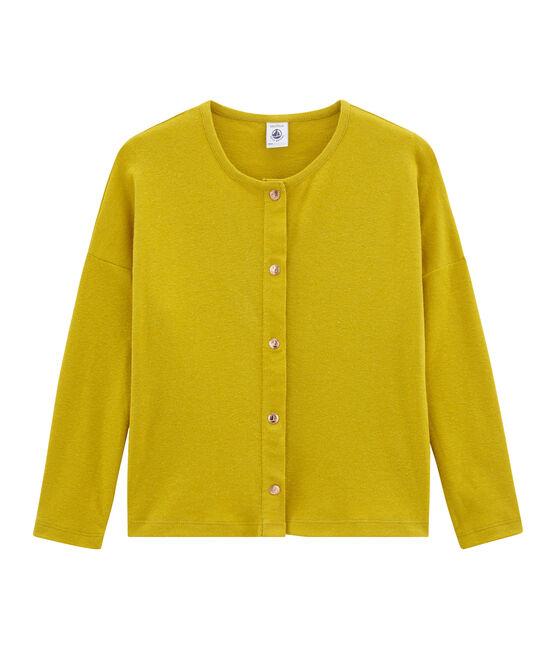 Cárdigan infantil para niña amarillo Bamboo