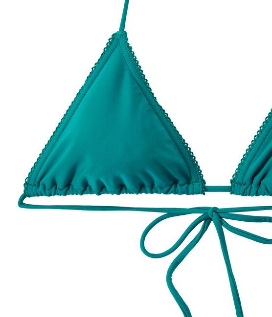 Bikini para mujer liso verde Verde