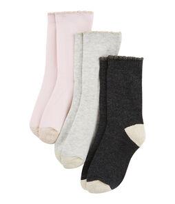 Lote de 3 pares de calcetines infantiles para niña