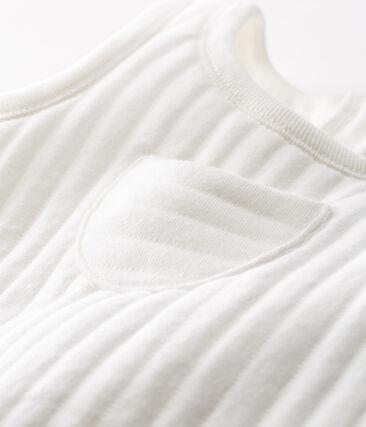 Peto de bebé niño de túbico acolchado blanco Marshmallow