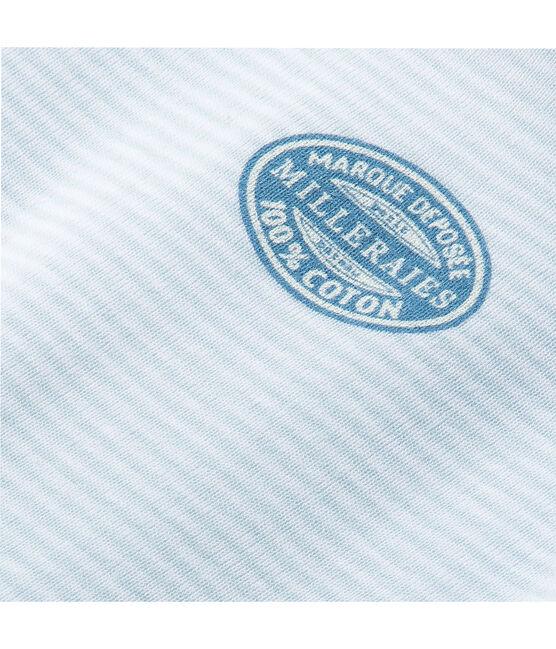 Body de manga larga milrayas para bebé niño azul Fraicheur / blanco Ecume