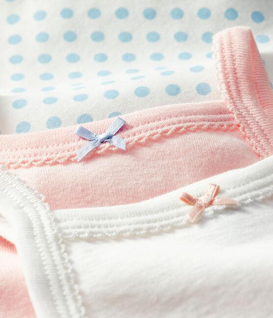 Tres bodis con tirantes para bebé de niña lote .