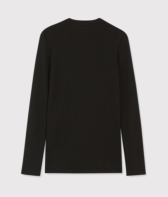 Camiseta icónica con cuello redondo para mujer negro Noir