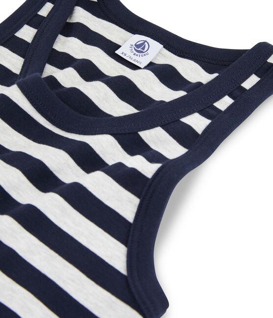 Camiseta de tirantes icónica para mujer azul Smoking / gris Beluga