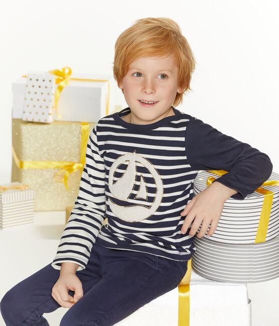 Jersey marinero para niño blanco Marshmallow / azul Smoking