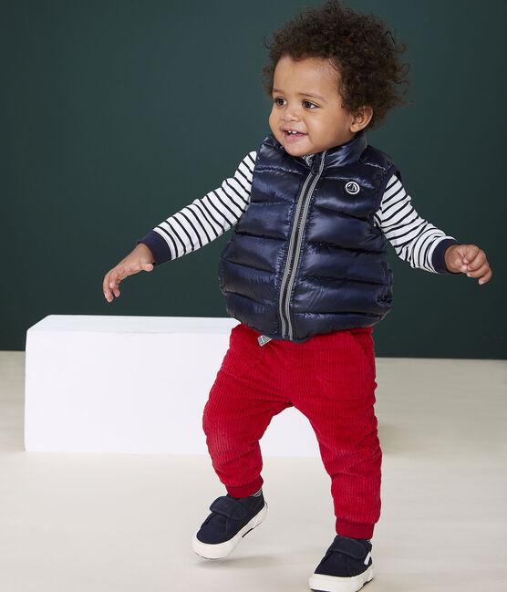 Pantalón de terciopelo para bebé niño rojo Terkuit