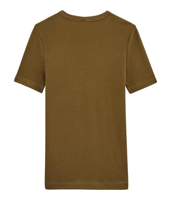 Camiseta de manga corta para mujer marrón Autumn