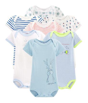 Bolsita sorpresa de 7 bodis de manga corta para bebé niño lote .