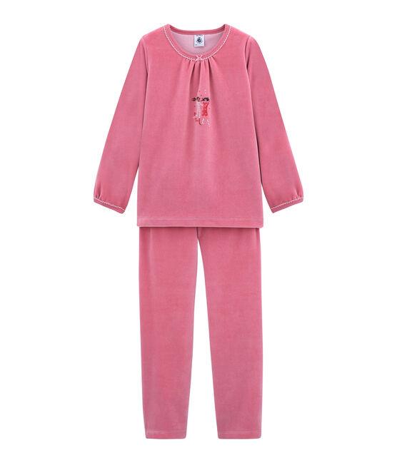 Pijama para niña rosa Cheek