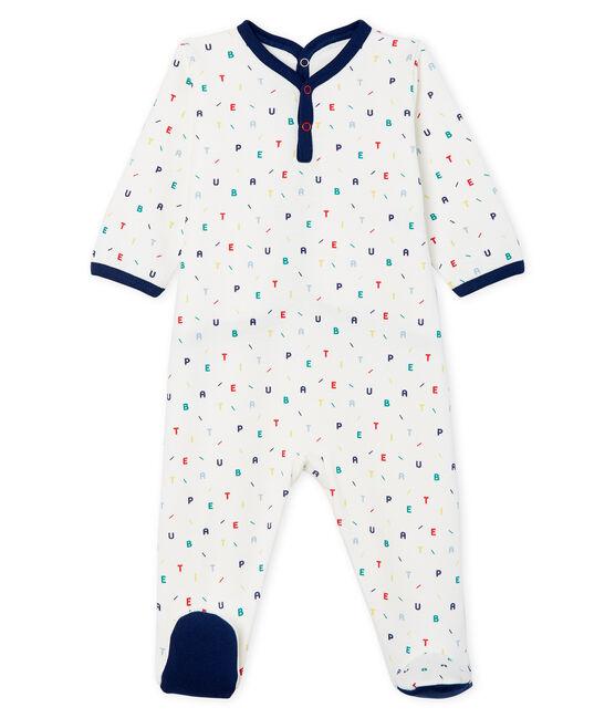 Pijama de muletón para bebé niño blanco Marshmallow / blanco Multico