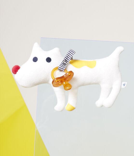 Doudou porta chupete para bebé niño en toalla de rizo blanco Marshmallow