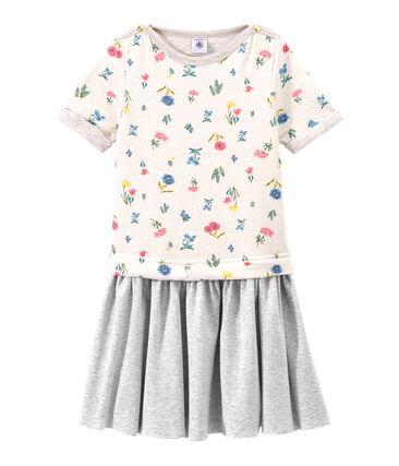 Vestido de cintura baja en túbico para niña