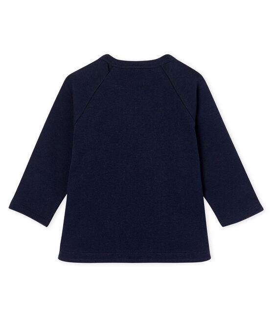 Camiseta de manga larga para bebé niña azul Smoking
