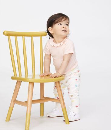 Pantalón estampado para bebé niña blanco Marshmallow / blanco Multico