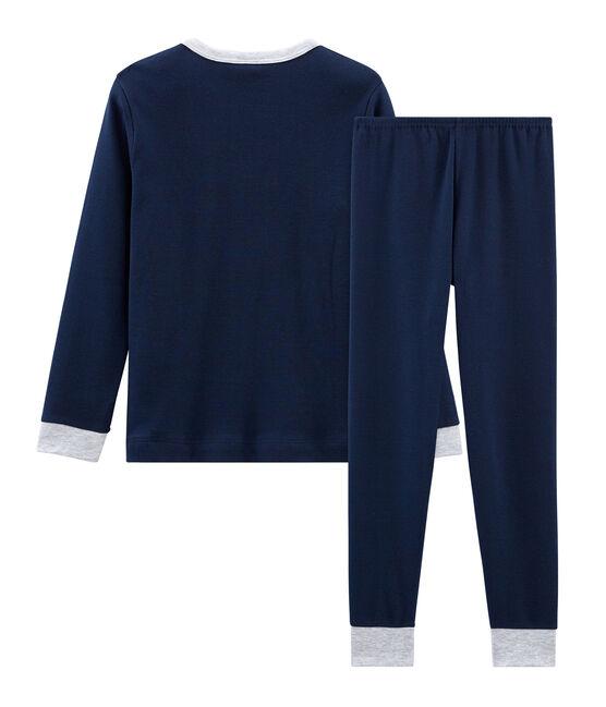 Pijama de punto para niño azul Haddock