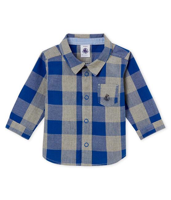 Camisa a cuadros para bebé niño azul Limoges / blanco Multico