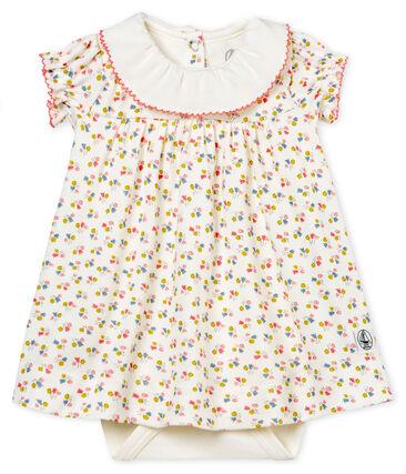 vestido body estampado para bebé niña