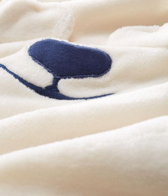 Sobrepijama de polar de oso para bebé blanco Marshmallow