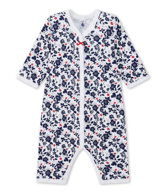 Pijama sin pies en túbico estampado para bebé niña blanco Ecume / blanco Multico