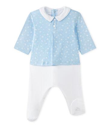 Pelele blusa bi-materia bebé niño