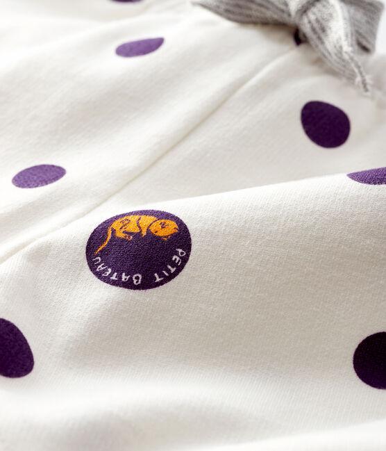 Pantalón de muletón para bebé niña blanco Marshmallow / blanco Multico