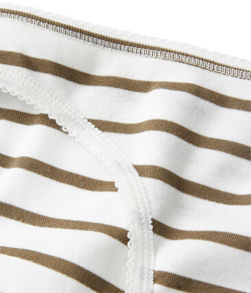 Braguita de algodón de rayas para mujer