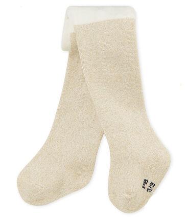 Pantis brillantes para bebé niña blanco Marshmallow