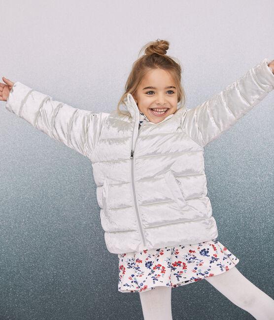 Abrigo de terciopelo para niña gris Argent
