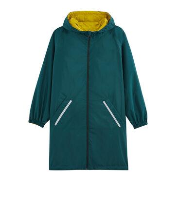 Cortavientos largo reversible para mujer amarillo Bamboo / verde Pinede