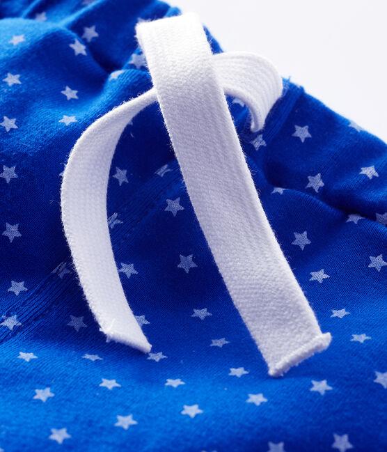 Pantalones cortos estampados para bebé niño azul Surf / blanco Marshmallow