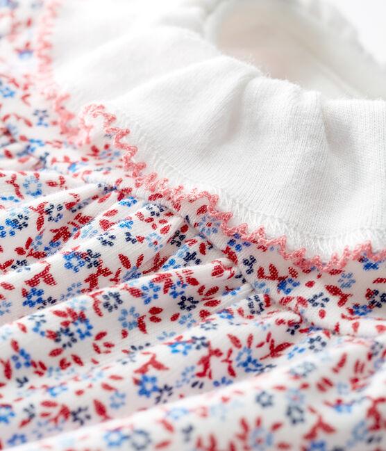 vestido body estampado para bebé niña blanco Marshmallow / rojo Terkuit