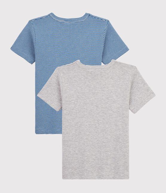 Juego de 2 camisetas de manga corta mil rayas de niño pequeño lote .
