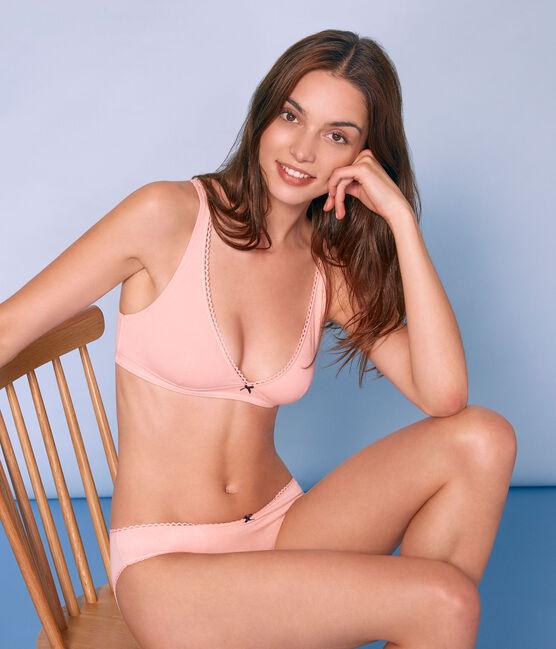 Sujetador de punto extrafino para mujer rosa Rosako