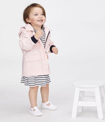 Chubasquero icónico para bebé niña rosa Minois