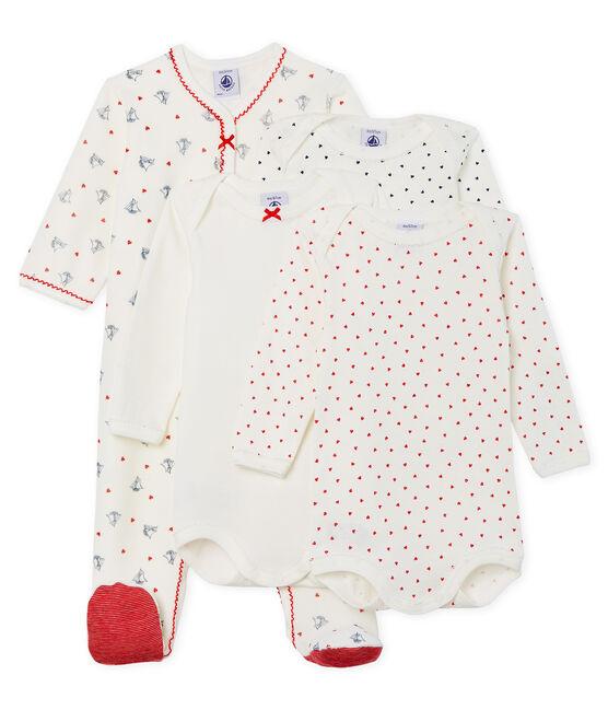 Conjunto para bebé niña con pijama de terciopelo y bodis de manga larga de punto lote .