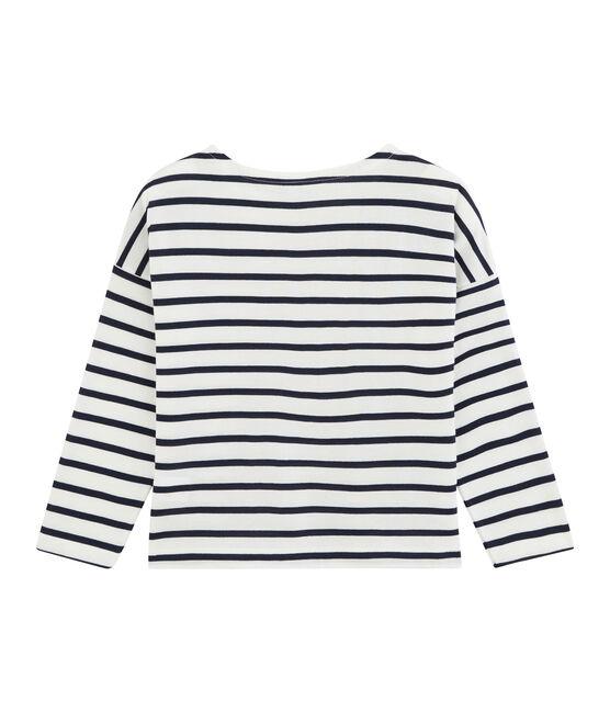 Camiseta de niño blanco Marshmallow / azul Smoking