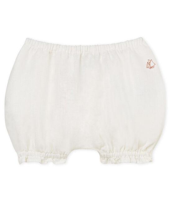 Braguitas bloomer de lino para bebé niña blanco Marshmallow Cn