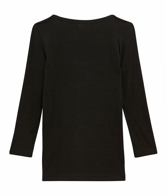 Camiseta icónica para mujer negro Noir