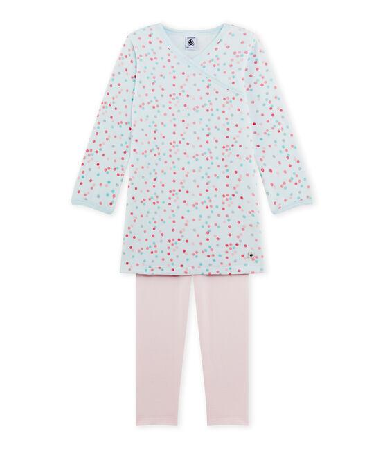 Camisón de terciopelo para niña rosa Vienne / azul Bocal