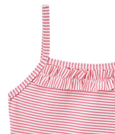 Bañador a rayas rosa Petal / blanco Marshmallow