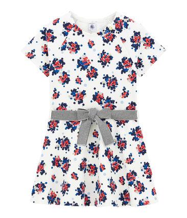 Vestido con estampado floral en muletón