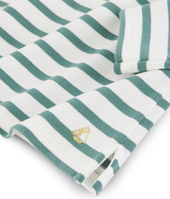 Marinera con lazo para niña blanco Marshmallow / azul Brut