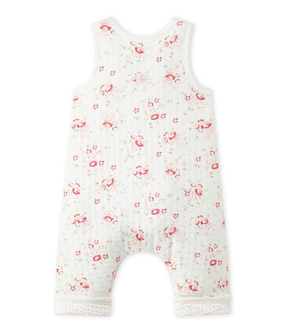 Peto en túbico acolchado para bebé niña blanco Lait / blanco Multico