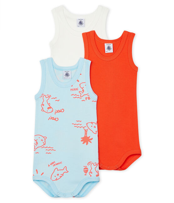 Tres bodis sin mangas para bebé de niño lote .