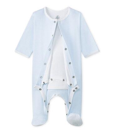 Bodipijama mixto azul Fraicheur / blanco Ecume
