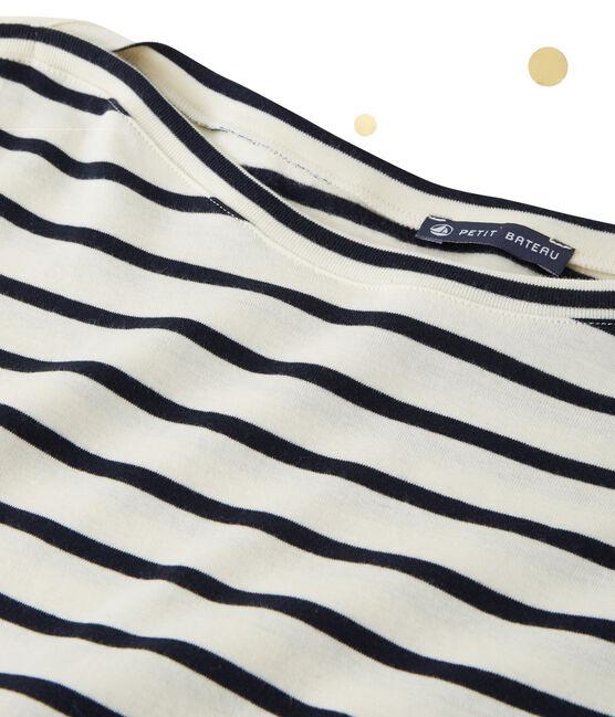 Body de manga larga para mujer x Marie-Agnès Gillot beige Coquille / azul Smoking