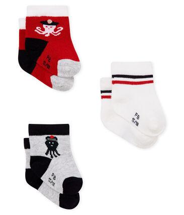 Lote de 3 pares de calcetines para bebé niño